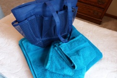 Towels and tote bag