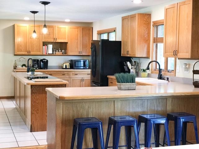 Large retreat house kitchen